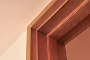 marco para puerta de madera
